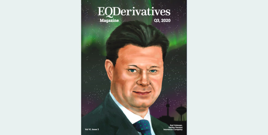 Kari Vatanen on the cover of EQDerivatives Magazine