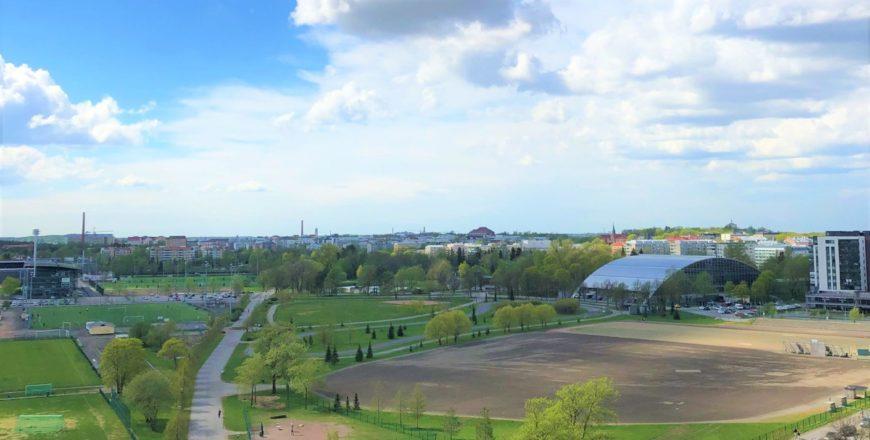 näkymä kupittaanpuistoon Retoriikasta.