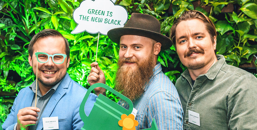 Green House Effectin perustajat tj Oula Harjula, Jaakko Pesonen ja Mikko Sonninen.