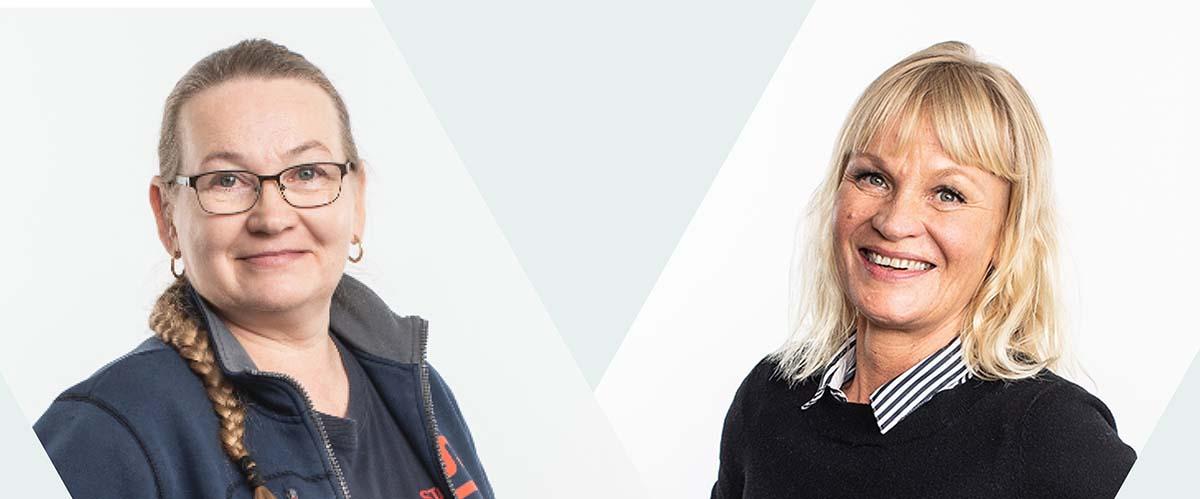 Päivi Virtanen-Gill ja Marjo Kiiskinen